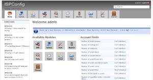 ISPConfig - administrator screen