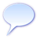 3d round speech bubble