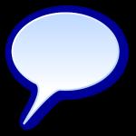 3d round speech bubble