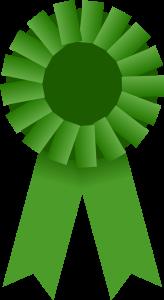 Green award ribbon