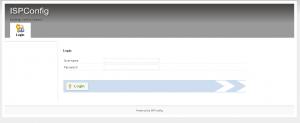 ISPConfig v3 login screen