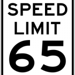 Speed limit at 65 mph