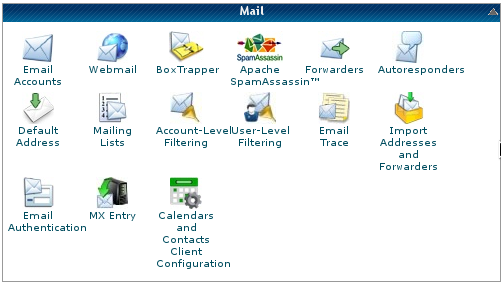 Cpanel - Mail functions