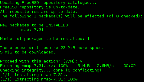 freebsd 11 install nmap