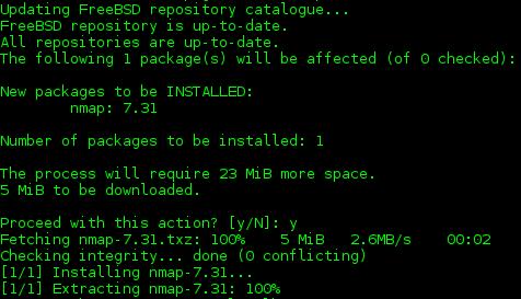 freebsd 11 install nmap