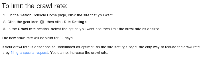 googlebot crawl rate